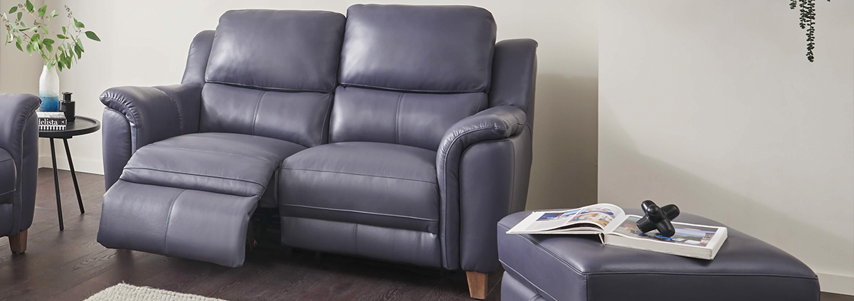 Leather 2 Seater Electric Reclining Sofas