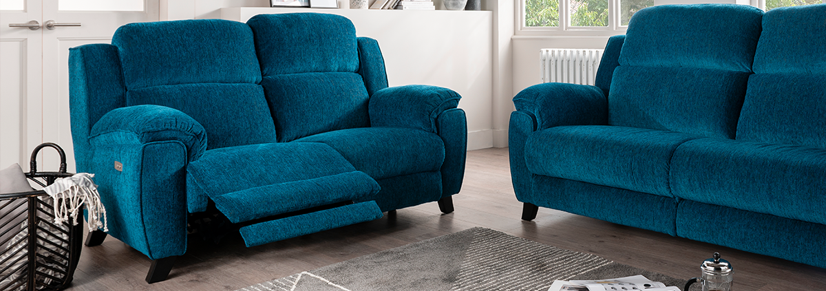 Fabric 2 Seater Electric Reclining Sofas