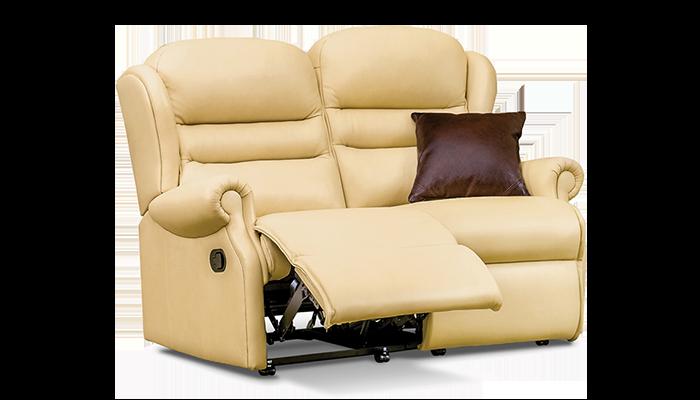 Small 2 Seater Manual Reclining Sofa