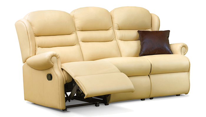 Small 3 Seater Manual Reclining Sofa