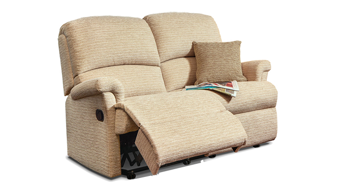 Small 2 Seater Manual Reclining Sofa