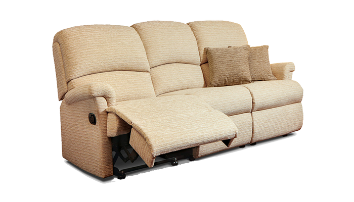 Small 3 Seater Manual Reclining Sofa