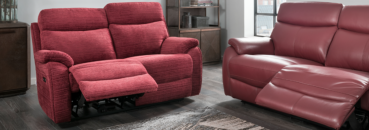 Fabric 2 Seater Manual Reclining Sofas