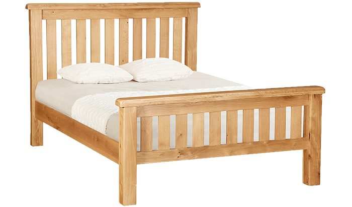 Double Slatted Bed Frame