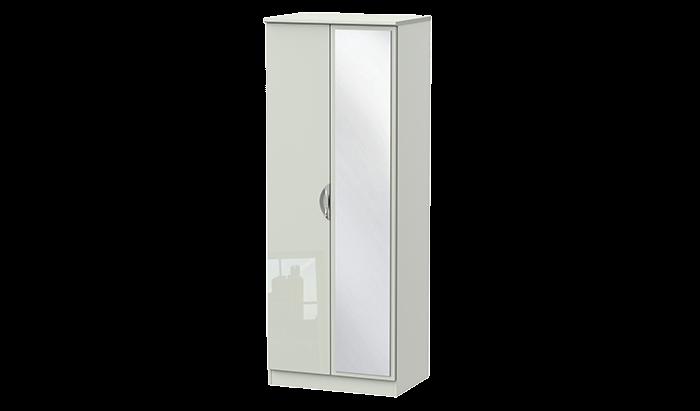 Tall 2 Door Mirror Wardrobe