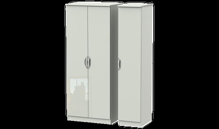 3 Door Plain Wardrobe