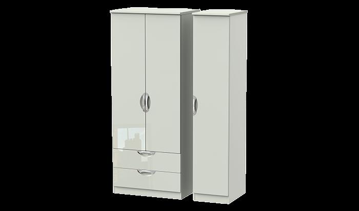 3 Door 2 Left Drawer Wardrobe