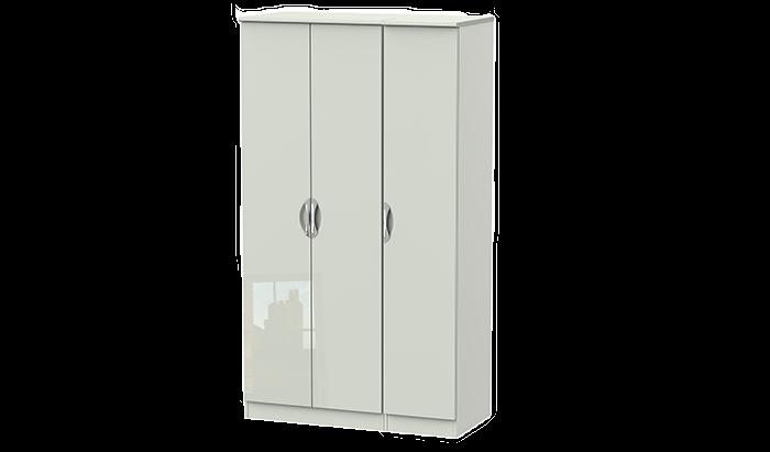 Tall 3 Door Plain Wardrobe
