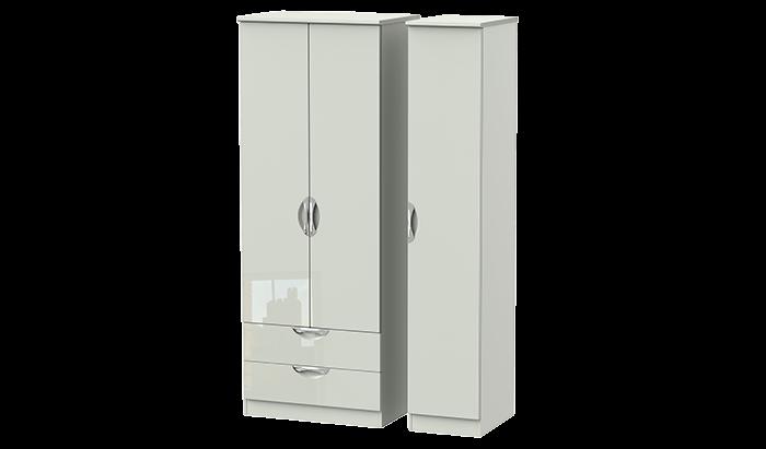 Tall 3 Door 2 Left Drawer Wardrobe