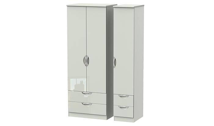 Tall 3 Door 4 Drawer Wardrobe