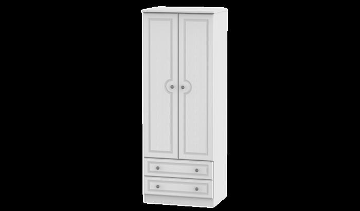 Tall 2 Door, 2 Drawer Wardrobe