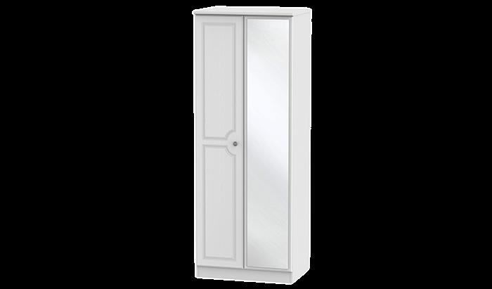 Tall 2 Door Wardrobe with Mirror
