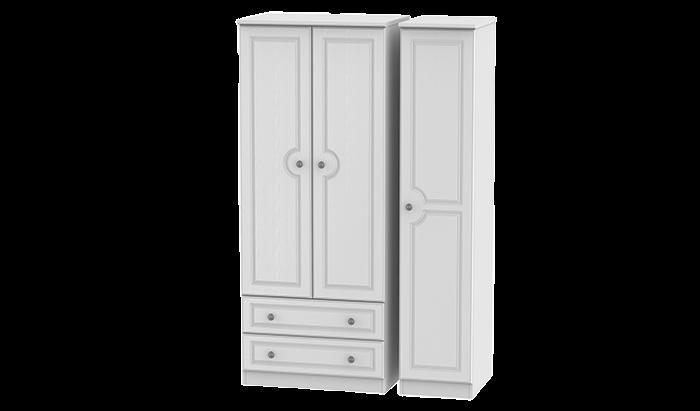 3 Door, 2 Left Drawer Wardrobe
