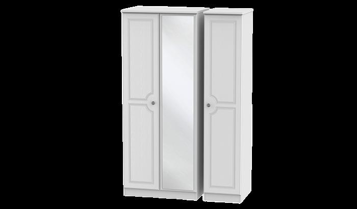 3 Door Wardrobe with Mirror