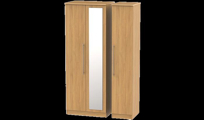 Tall 3 Door Wardrobe with Mirror