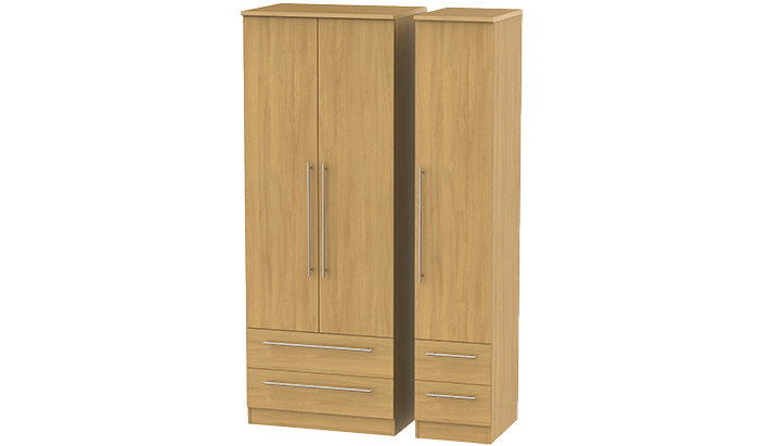 Tall 3 Door, 4 Drawer Wardrobe
